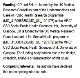 Funding and COI statements